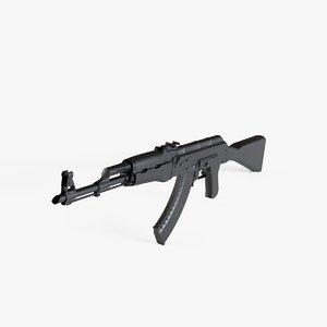 3D ak47 gun model