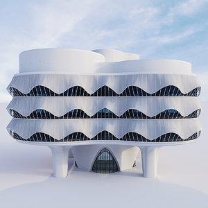 3D futuristic building 12