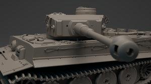 3D tiger panzerkampfwagen vi tank ww2