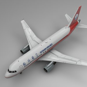 sichuan airlines airbus a320 3D model