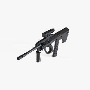 3D model aug gun