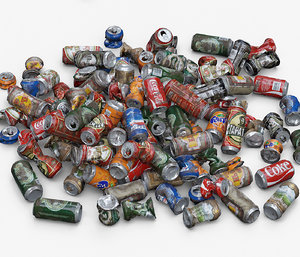 old aluminum cans 3D model
