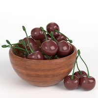 3D cherries bowl