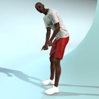 frank golfer human male 3d model