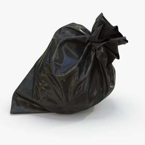 blue garbage bag 3D model