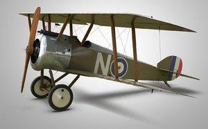 3D historical aircraft sopwith camel