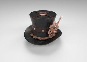 3D style hat steampunk