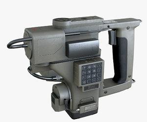 3D pbr motion tracker sci-fi
