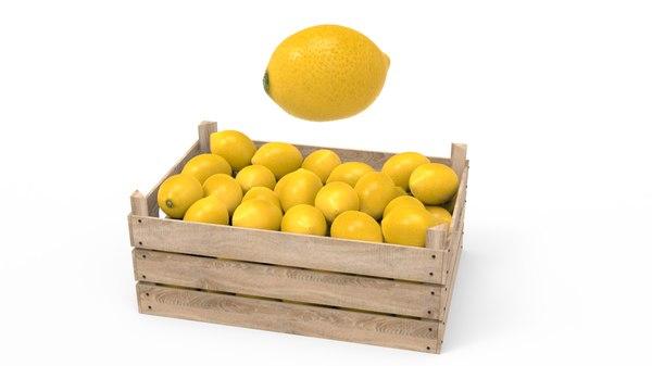 lemon box 3D model
