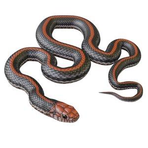 black orange snake animation 3D model