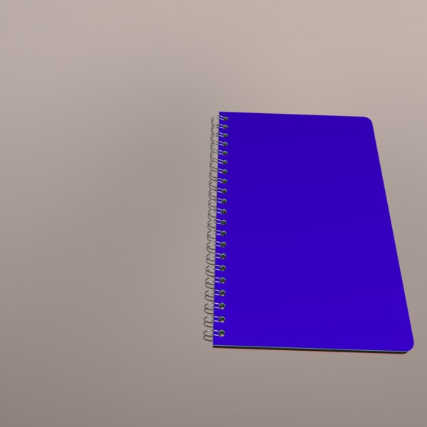 3D notebook rings animation