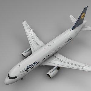 3D model lufthansa airbus a320 l473