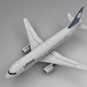 3D lufthansa airbus a320 l472 model