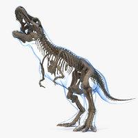 3D tyrannosaurus rex skeleton fossil model