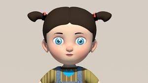3D cute gir girl model