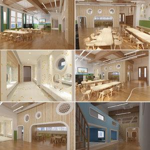 kindergarten interior 3D