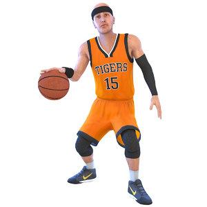 basketball player 4k ball 3D