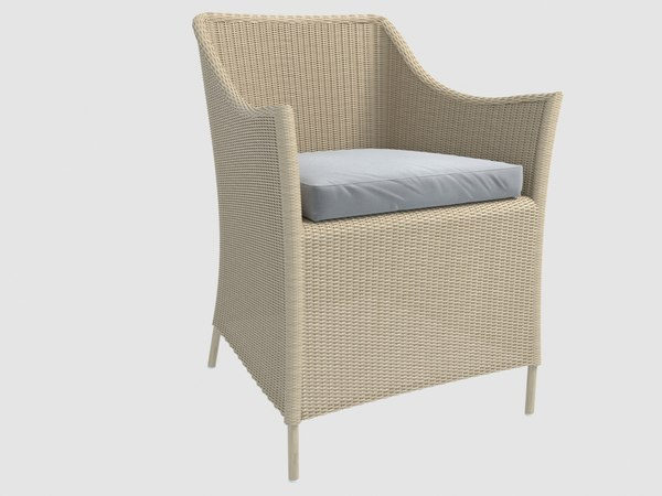 christian jaba outdoor wicker 3D model