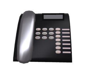 simple telephone 3D model