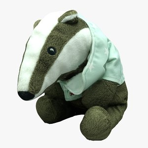 plush badger 3D model