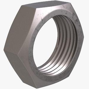 hex nut 3D model