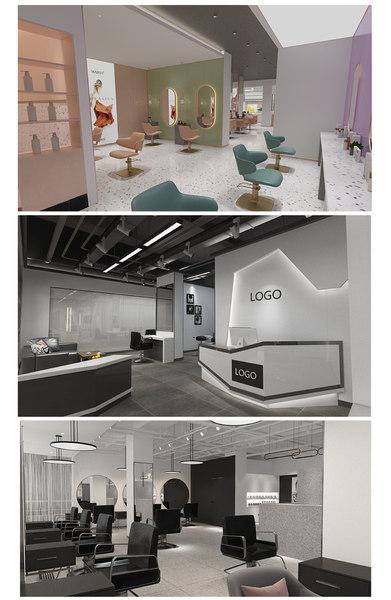 beauty shop 1 2 3D model