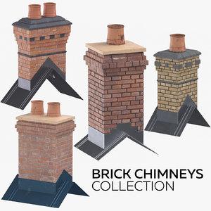 brick chimneys model