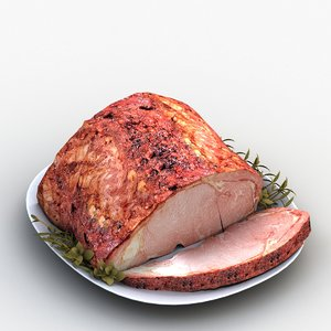 3D model roast meat