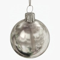 christmas ball silver glossy model