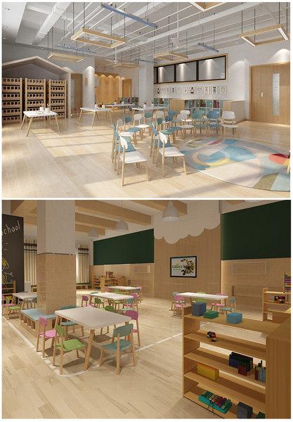 classroom kindergarten room 3D model