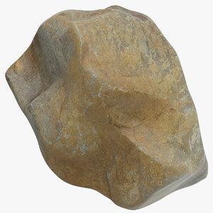 mountain rock 04 3D model