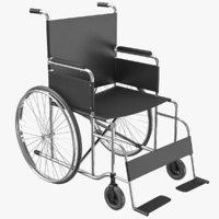 Wheel Chair 01 3D Model