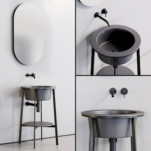 washbasin catino tondo mirror 3D model