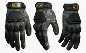 3D gloves protection model