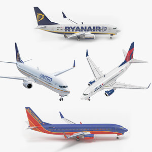 3D boeing 737 rigged