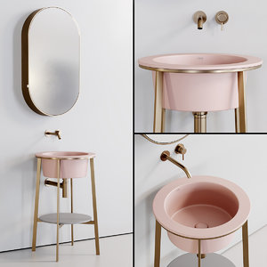 3D washbasin catino tondo mirror model