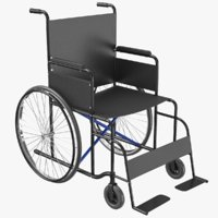 Wheel Chair 02 3D Model