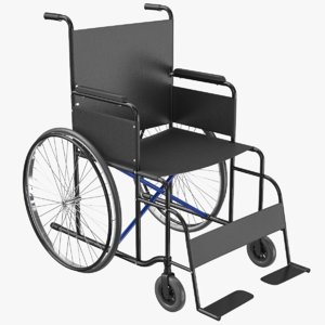 wheel chair 02 3D model