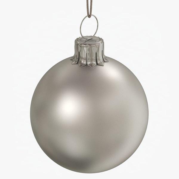 christmas ball silver matte model
