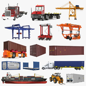 equipment containers 4 3D model