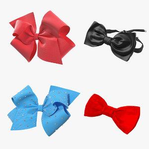 3D fashion accessories bowtie hair