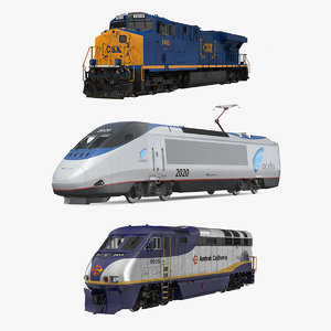 3D locomotives 2 model