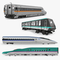 3D passenger train locomotives