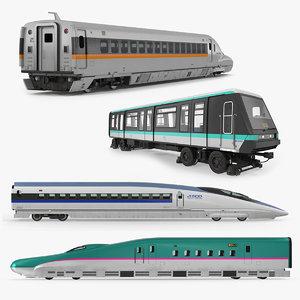 3D passenger train locomotives