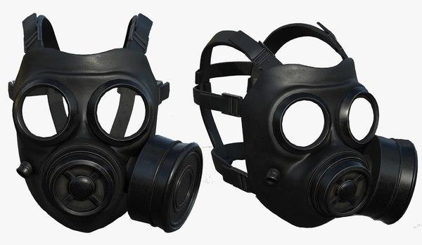pollution helmet mask 3D model