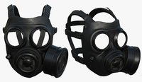 Gas mask helmet 3d model protection pollution fantasy