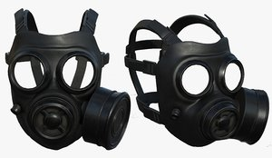 pollution helmet mask 3D model