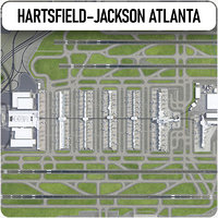 3D hartsfield-jackson atlanta international airport model