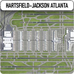 3D hartsfield-jackson atlanta international airport model