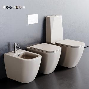 toilet quadra bidet 3D